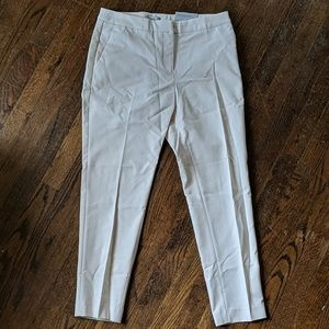 Cream women's slacks/ pointe/ ankle pants